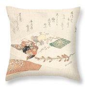 Kabuki Dancer From The Maiden Throw Pillow