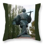 Kabuki Dancer Statue In Kyoto Throw Pillow