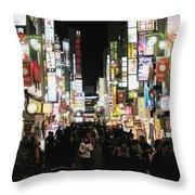 Kabukicho Throw Pillow