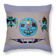 Kachina Dance Throw Pillow