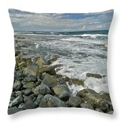 Kaena Point Shoreline Throw Pillow