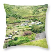 Kahakuloa Village Maui Hawaii Throw Pillow