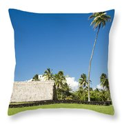 Kahanu Garden Hana Maui Hawaii Throw Pillow