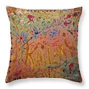 Kailani's Sweet Sixteen Throw Pillow