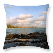 Kailua Bay Sunrise Throw Pillow