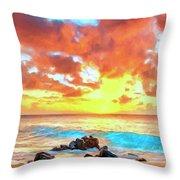 Kailua-kona Sunset Throw Pillow