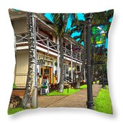 Kailua Village - Kona Hawaii Throw Pillow