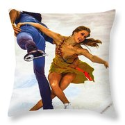 Kaitlyn Weaver And Andrew Poje Throw Pillow