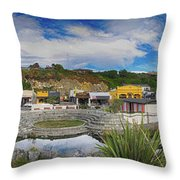 Kaitoura Nz Panorama Throw Pillow