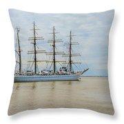 Kaiwo Maru On The Way To The Open Ocean. Throw Pillow