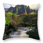 Kalalau Cathedral Throw Pillow
