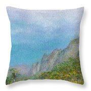 Kalalau Mist Throw Pillow