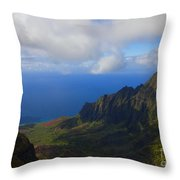 Kalalau Storm Clearing Throw Pillow