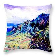 Kalalau Valley 4 Throw Pillow