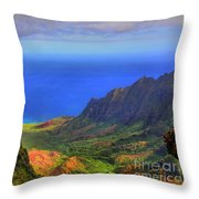 Kalalau Valley Throw Pillow
