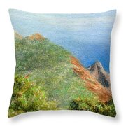 Kalalau View Throw Pillow