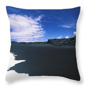 Kalapana Black Sand Throw Pillow