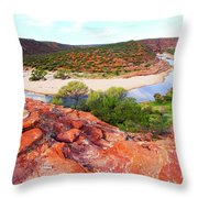 Kalbarri National Park 2am-29388 Throw Pillow