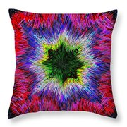 Kaleidomicro Throw Pillow