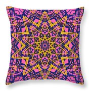 Kaleidoscope 1004 Throw Pillow