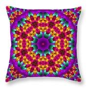 Kaleidoscope 4 Throw Pillow