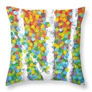 Kaleidoscope Canopy Throw Pillow