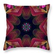 Kaleidoscope Christmas Poinsettia  Throw Pillow