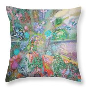 Kaleidoscope Fairies Too Throw Pillow