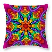 Kaleidoscope Flower 01 Throw Pillow