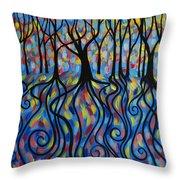 Kaleidoscope Forest Throw Pillow