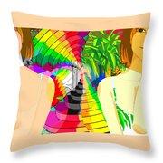 Kaleidoscope Girl Throw Pillow