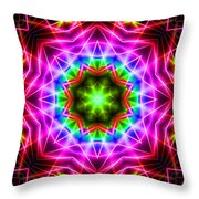 Kaleidoscope I Throw Pillow by Kenneth Krolikowski