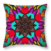 Kaleidoscope Of Color Throw Pillow