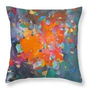 Kaleidoscope Of Colour Throw Pillow