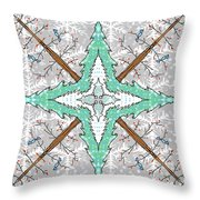 Kaleidoscope Of Winter Trees Throw Pillow