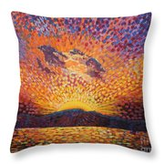 Kaleidoscope Sunrise Throw Pillow