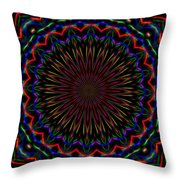 Kaleidoscoped Fireworks Throw Pillow