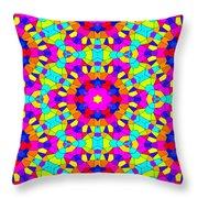 Kaleidoscopic Mosaic Throw Pillow