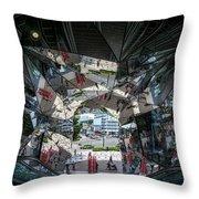 Kaleidoscopic Tokyo Throw Pillow