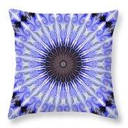 Kaliedoscope Purples Throw Pillow