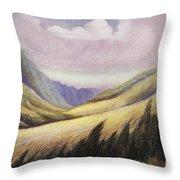 Kalihi Valley Art Throw Pillow