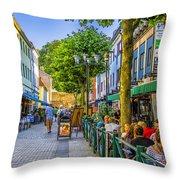 Kalmar Cafes Throw Pillow