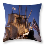 Kalmar Nyckel Throw Pillow by Skip Willits