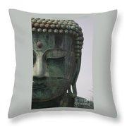Kamakura Buddha Throw Pillow