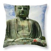 Kamakura Daibutsu Throw Pillow