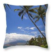 Kamaole Beach Throw Pillow
