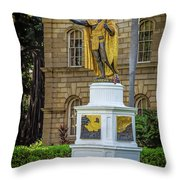 Kamehameha The Great Throw Pillow by Jon Burch Photography