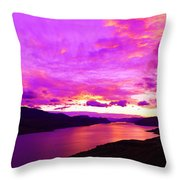 Kamloops Lake At Dawn Throw Pillow