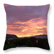 Kamloops Sunset 2 Throw Pillow