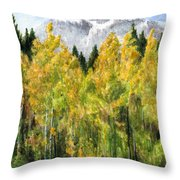 Kananaskis Autumn Morn Throw Pillow